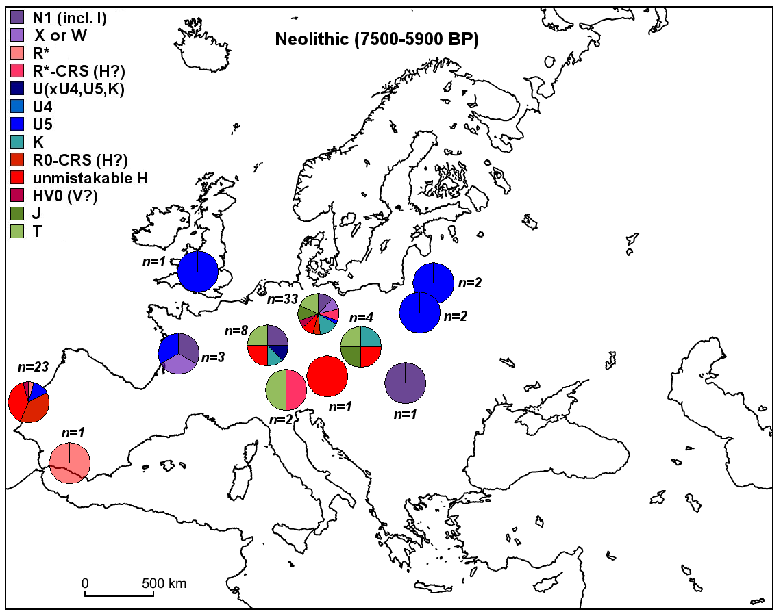 More ancient mtDNA maps of Europe: the Neolithic and Chalcolithic ...